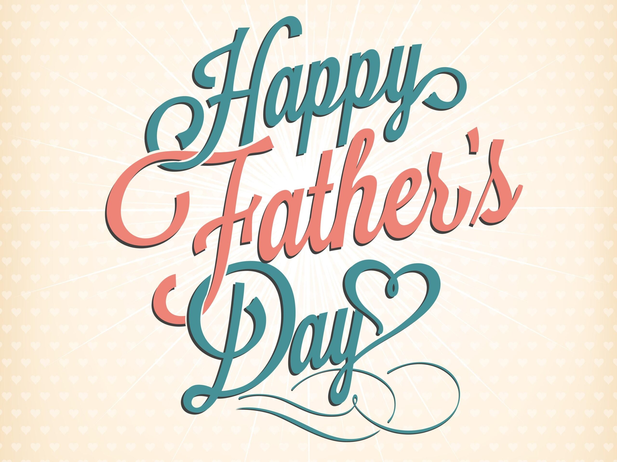 """Orange and white background with the text, """"Happy Father's Day."""""""